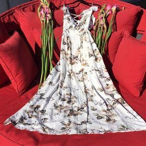 Maxi Wrap Dress Floral Goddess NWOT Size Small
